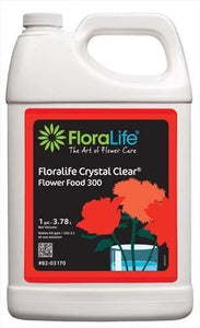 Floralife CRYSTAL CLEAR Flower Food 300 Liquid, Hard Water, 1 gal
