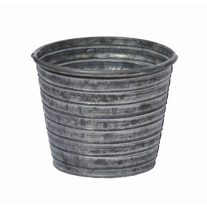 "OASIS 5-1/2"" Tin Pot, Galvanized"