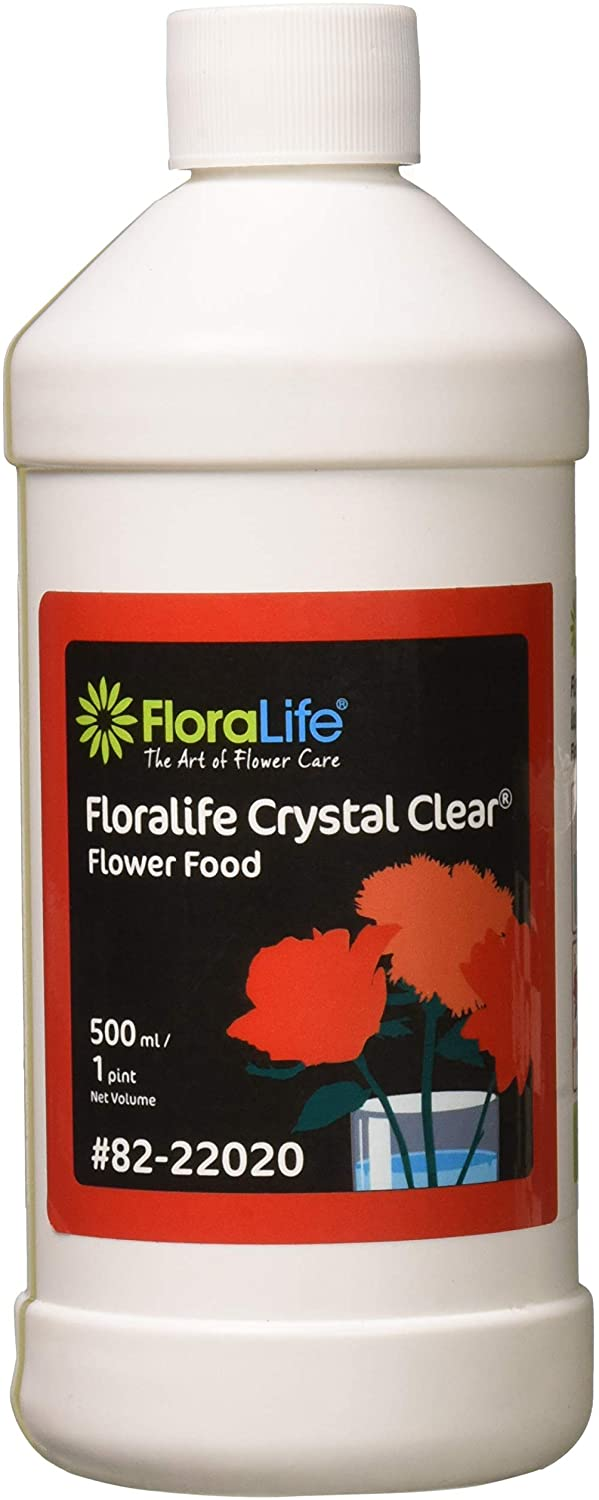 Floralife CRYSTAL CLEAR Flower Food 300 Liquid, 500 ml/1 pt