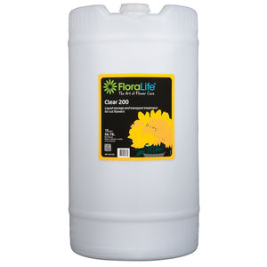 Floralife Clear 200 storage & transport treatment, 15 gal