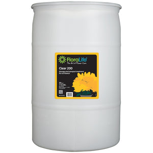 Floralife Clear 200 storage & transport treatment, 30 gal