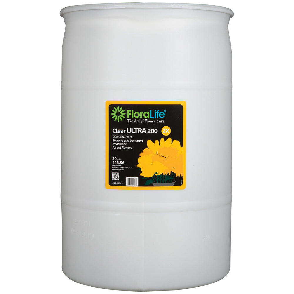Floralife Clear Ultra 200 storage & transport concentrate, 30 gal