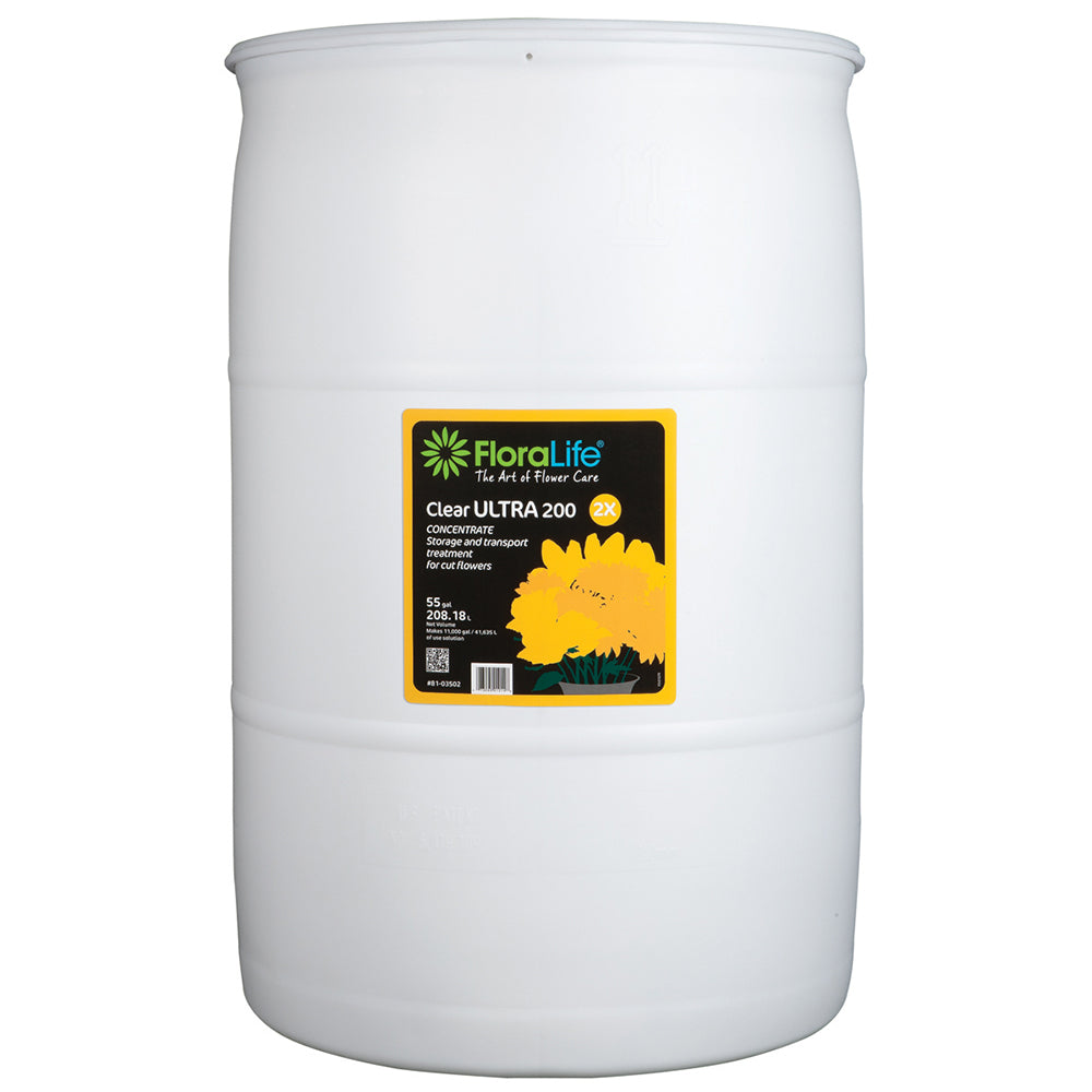 Floralife Clear Ultra 200 storage & transport concentrate, 55 gal