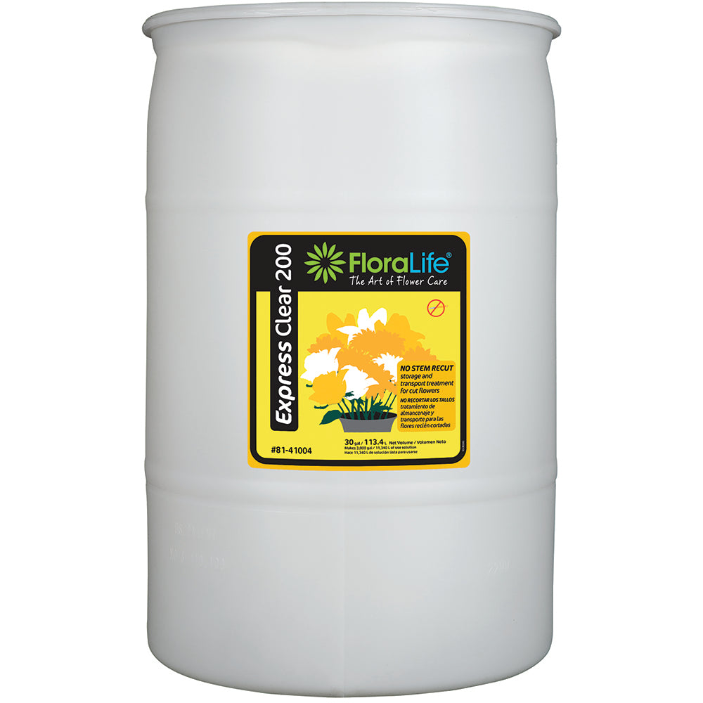 Floralife Express Clear 200 storage & transport, 30 gal