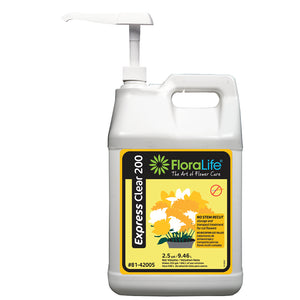 Floralife Express Clear 200 storage & transport, 2.5 gal with pump