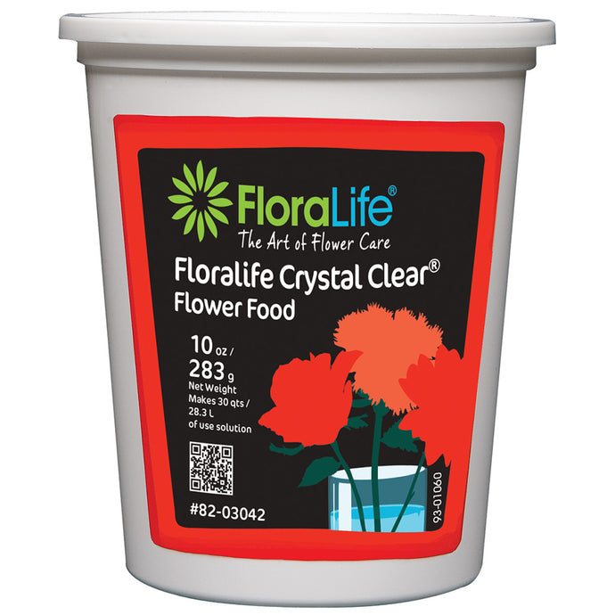 Floralife CRYSTAL CLEAR Flower Food 300 Powder, 10 oz.