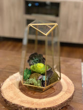 Load image into Gallery viewer, Geometric Glass Terrarium Planter & Succulent Planter- Tall