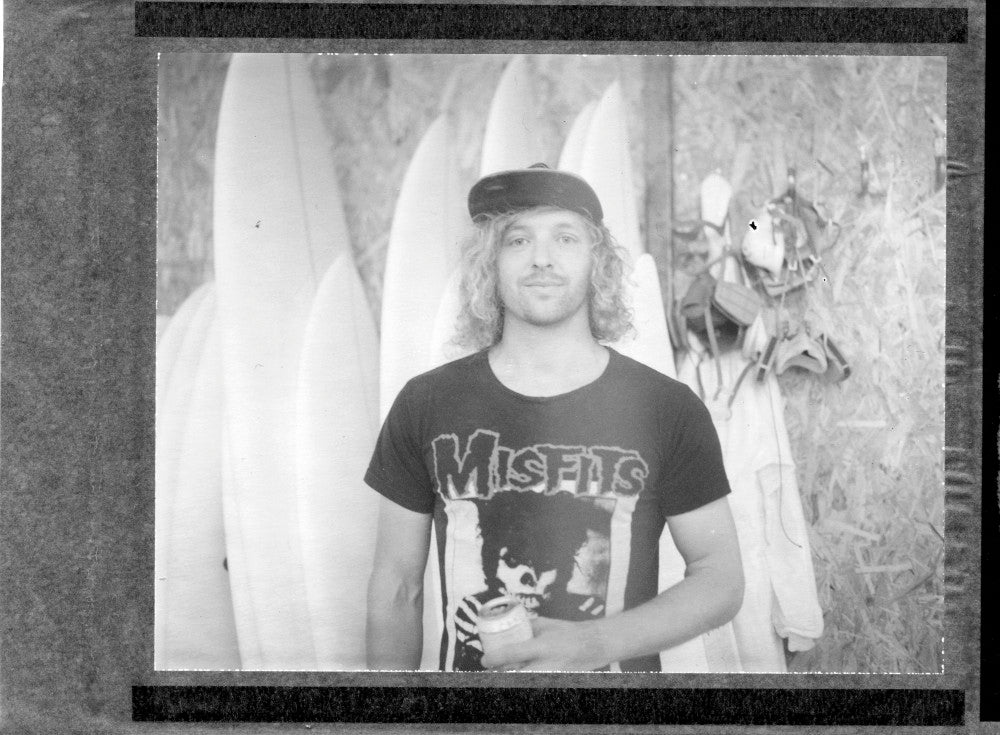 Polaroid portrait of Olly Cooper