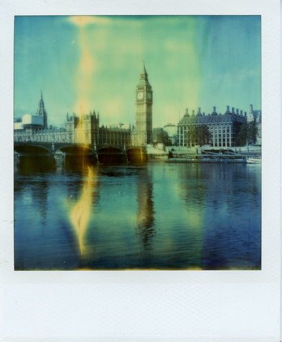 Polaroid image of Big Ben