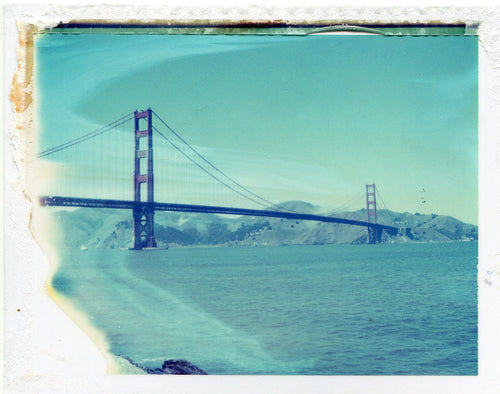 Polaroid of the Golden Gate Bridge, San Francisco