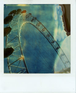 Polaroid time zero image of the london eye