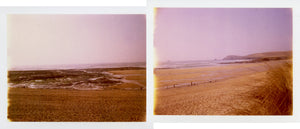 Polaroid of Constantine Bay in North Cornwall