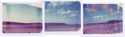 Polaroid panorama of Rock to Daymer on the Camel Estuary