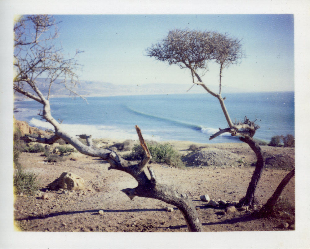 Polaroid of surf at Hash Point, Morocco