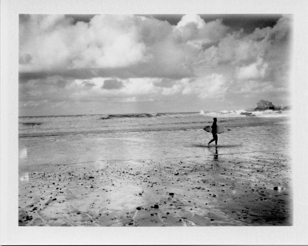 Polaroid of a winters day surf St Agnes
