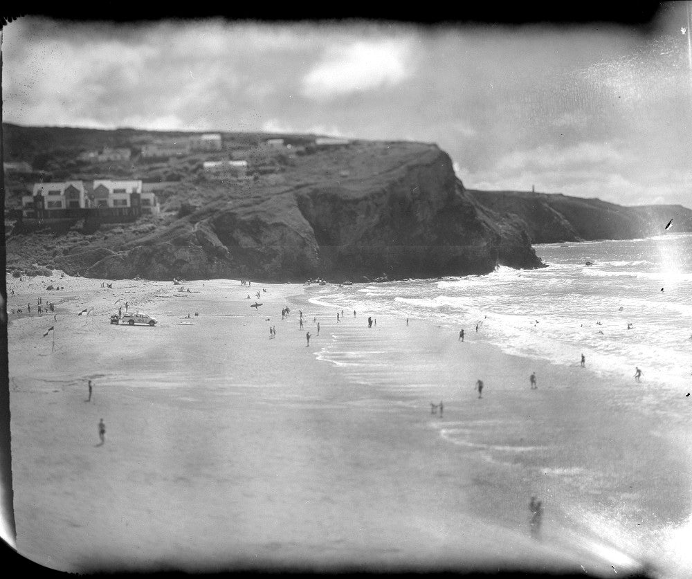 Polaroid of a porthtowan summer beach day