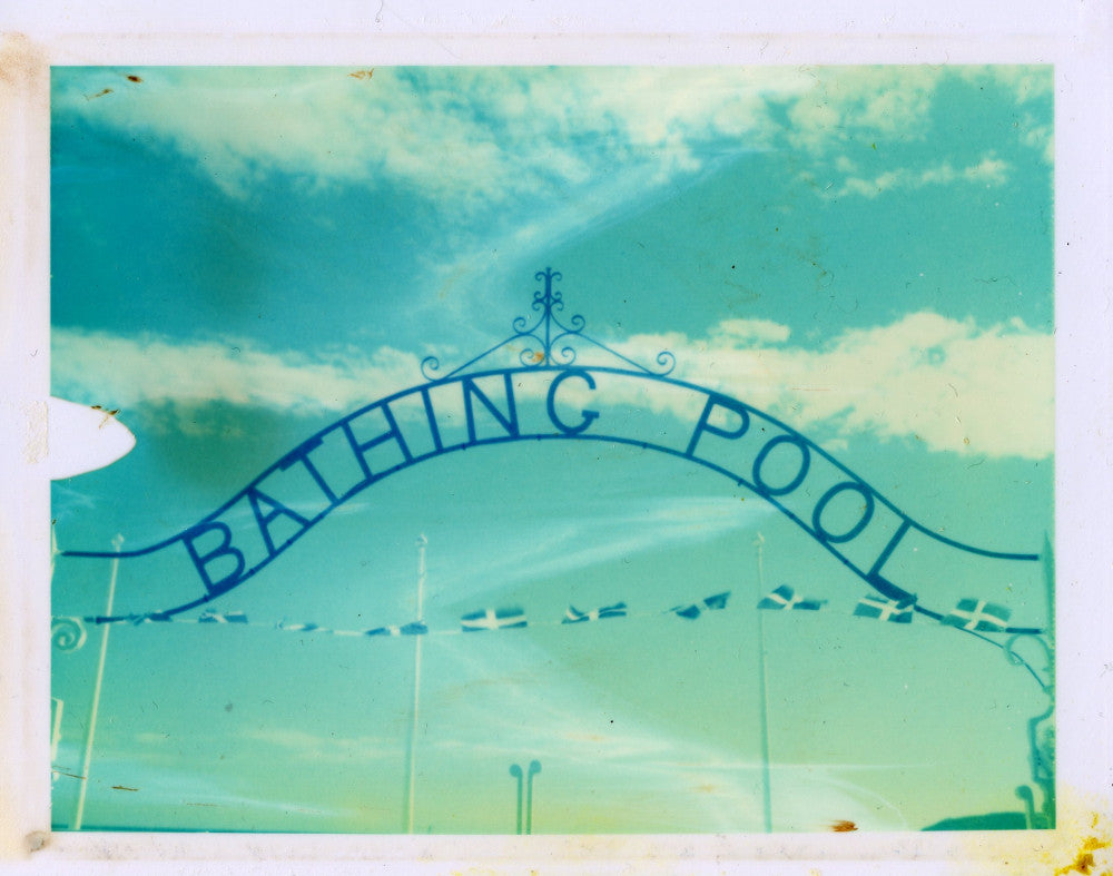 Polaroid image of Penzance bathing pool
