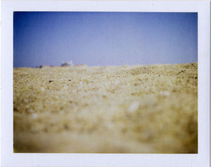 Polaroid image of the sand in Hossegor, France