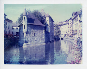 Polaroid image of Old Town, Annecy