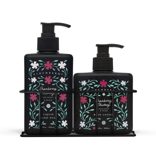 Cranberry Chutney Combo Caddy - Hand Wash & Body Lotion