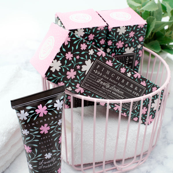 Sweetly Southern Hand Cream - 4 oz in a basket