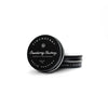 Cranberry Chutney Solid Perfume in black circular tin container with white lettering