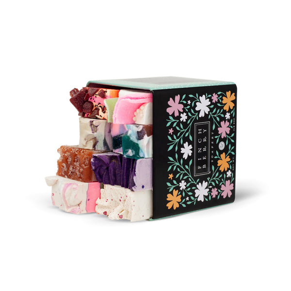 Best seller sampler tin. Eight half bars of soap in a decorative tin