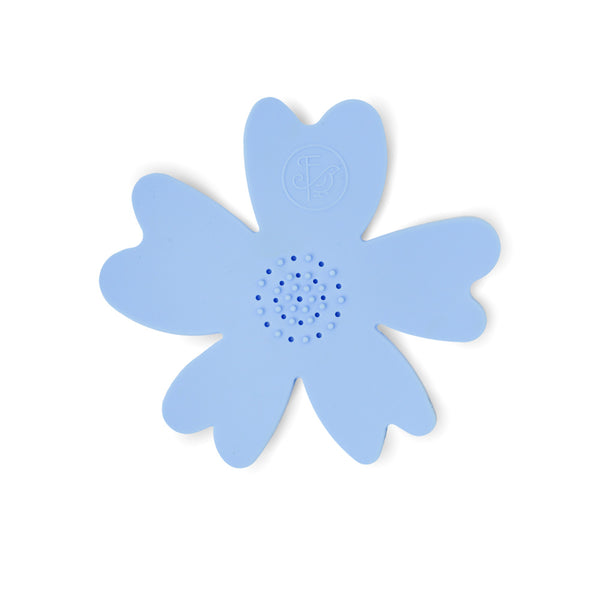 Silicone Flower Soap Dish - Blue