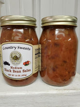 Load image into Gallery viewer, Country Sweets Medium Black Bean Salsa 16 oz Jar