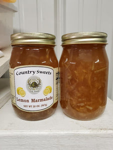Country Sweets Lemon Marmalade 20 oz Jar