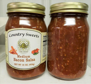 Country Sweets Medium Bacon Salsa 16 oz Jar