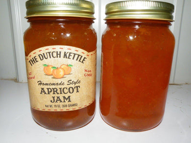 Dutch Kettle All Natural Homemade Apricot Jam 19 oz Jar