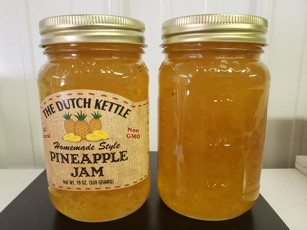 Dutch Kettle All Natural Homemade Pineapple Jam 19 oz Jar