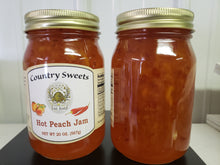 Load image into Gallery viewer, Country Sweets Hot Peach Jam 20 oz Jar