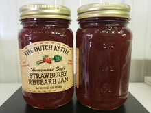 Load image into Gallery viewer, Dutch Kettle All Natural Homemade Strawberry Rhubarb Jam 19 oz Jar