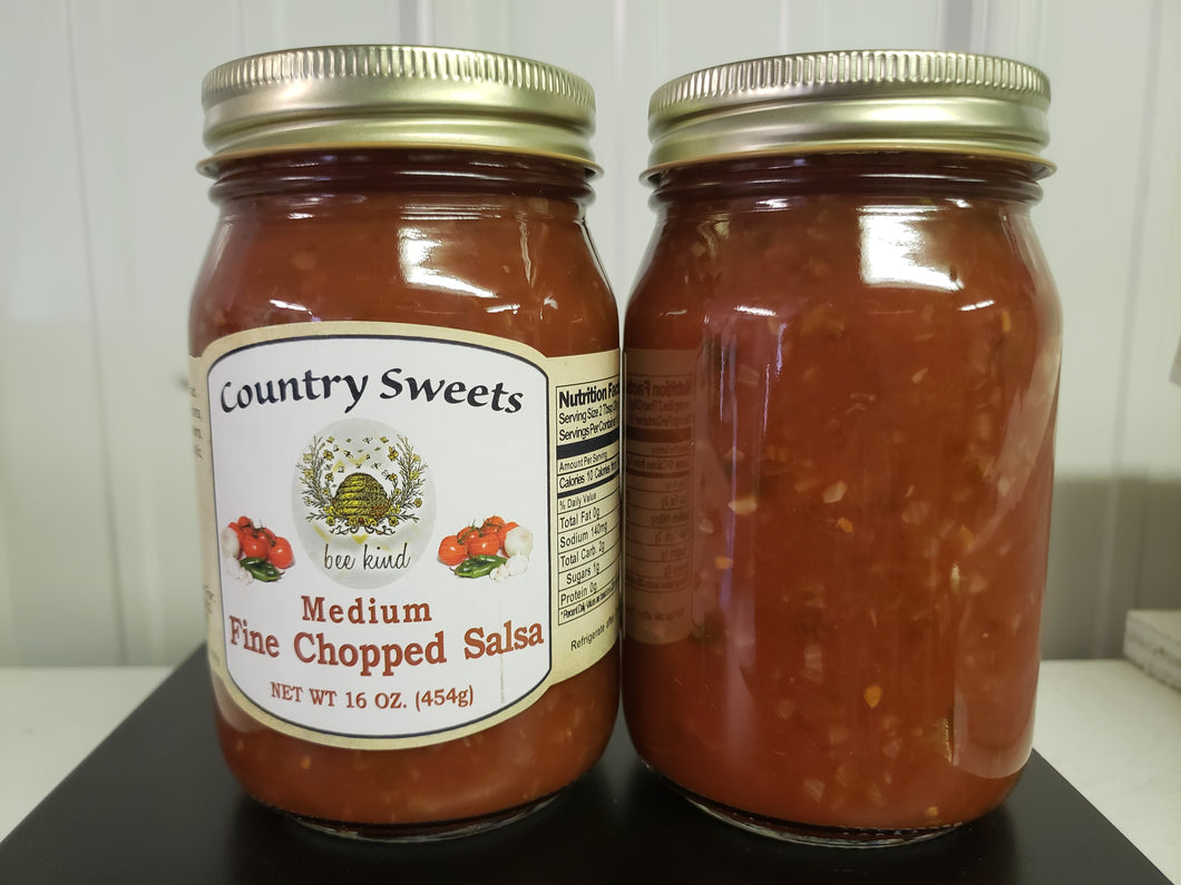 Country Sweets Medium Fine Chopped Salsa 20 oz Jar