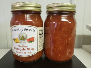 Country Sweets Mild Pineapple Salsa  20 oz Jar