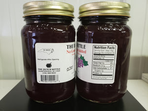 Dutch Kettle No Sugar Added All Natural Homemade Grape Jelly 19 oz Jar
