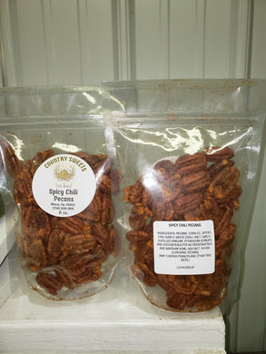 Country Sweets 8 oz Georgia Spicy Chili Pecans