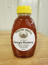 Load image into Gallery viewer, Pure Raw Georgia Blueberry Honey 16 oz / 1 Ibs