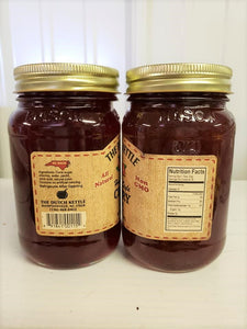 Dutch Kettle All Natural Homemade Cherry Jam 19 oz Jar