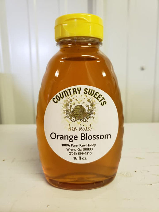 Pure Raw Orange Blossom Liquid Honey 1 lbs