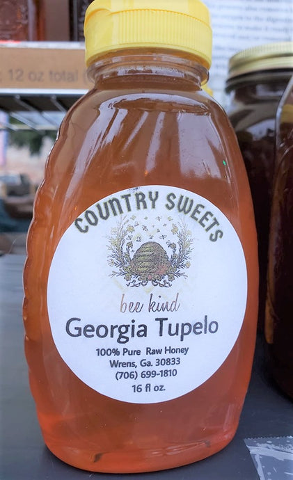 Country Sweets Raw Geogia Tupelo Honey 1 Ibs / 16 oz