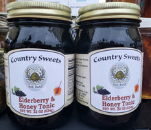 Load image into Gallery viewer, Country Sweets Elderberry & Honey Tonic 22 oz.