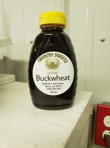 Country Sweets Pure Buckwheat Honey 16 Oz Bottle
