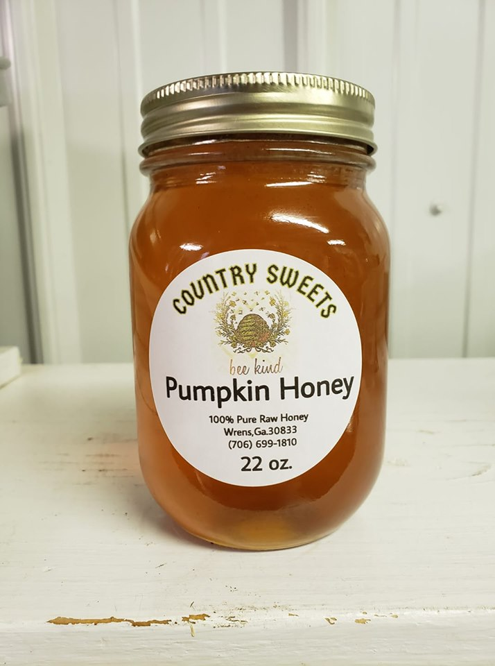 Country Sweets Raw Pumpkin Honey 22 oz