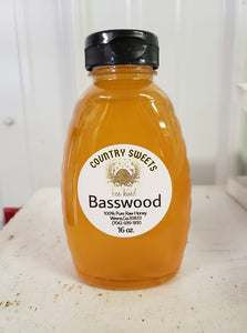 Country Sweets Raw Basswood / Linden Honey 16 oz
