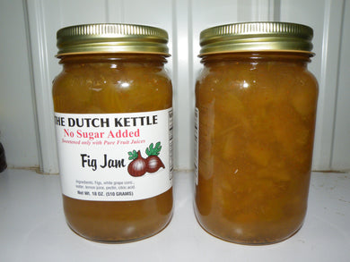 Dutch Kettle No Sugar Added All Natural Homemade Fig Jam 19 oz Jar
