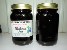 Load image into Gallery viewer, Dutch Kettle No Sugar Added All Natural Homemade Blueberry Jam 19 oz Jar