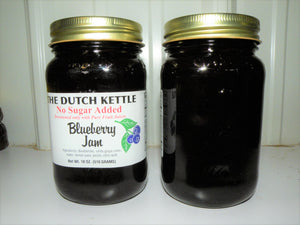 Dutch Kettle No Sugar Added All Natural Homemade Blueberry Jam 19 oz Jar